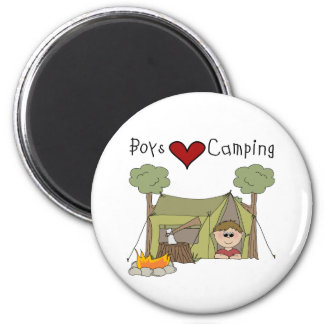 Boys Love Camping Magnet