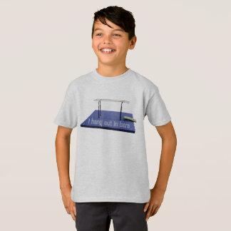 Boys Men's Gymnastics Parallel Bars Funny Shirt