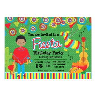 Boys Mexican Fiesta Birthday Party 13 Cm X 18 Cm Invitation Card