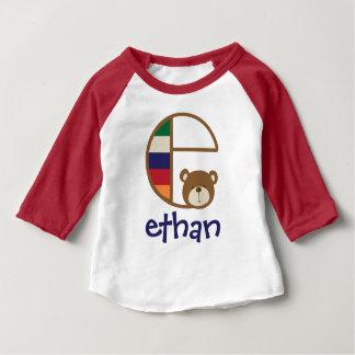Boys Monogram Shirt Baby Boy Bear Tshirt Initial e