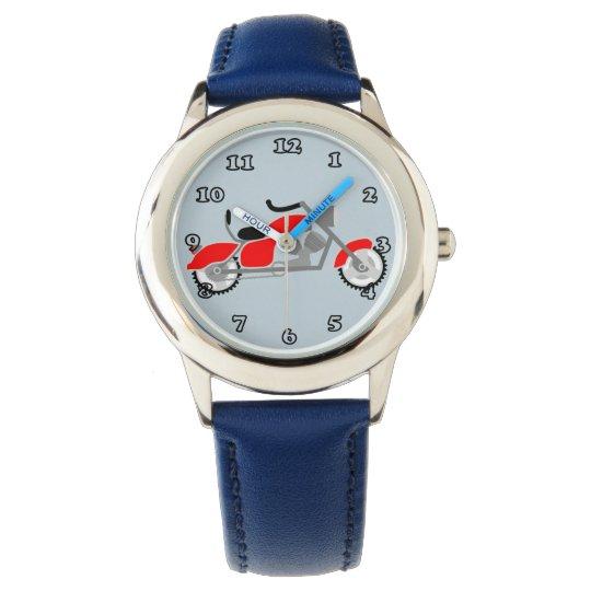 Boys Motorbike Motif watch