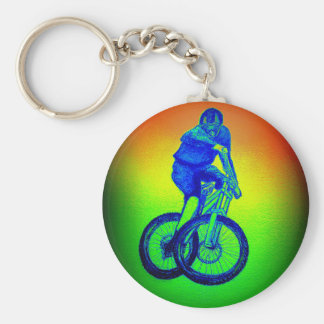 Boys mountain bike T Shirt presents MTB Key Ring