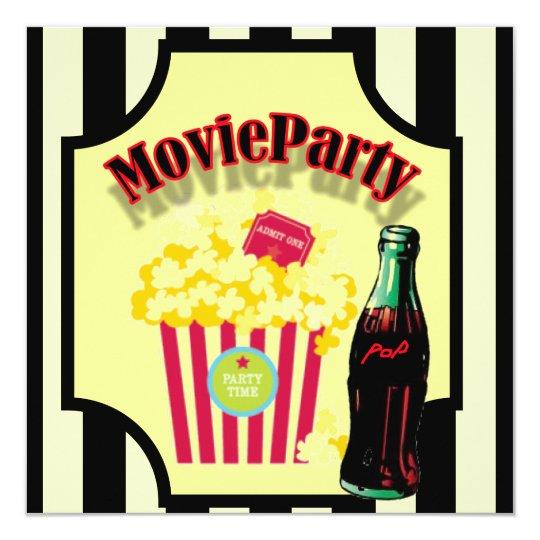 Boys Movie Birthday Party Invitation
