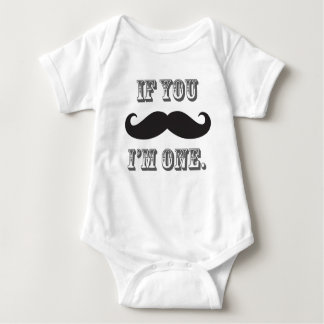 Boy's Mustache Little Man First Birthday Tee