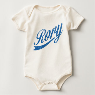 "Boys Name ""Rory"" Distressed Blue Baby Bodysuit"