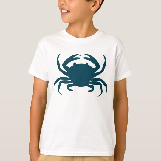 Boys Nautical blue crab beach t-shirt