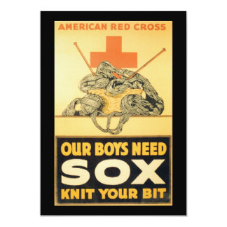 Boys Need Sox World War II Personalized Announcements