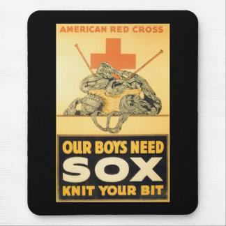 Boys Need Sox World War II Mouse Pad