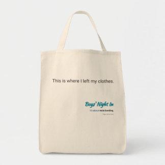 Boys' Night In tote bag