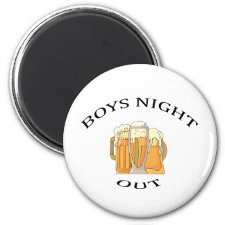 Boys Night Out 6 Cm Round Magnet