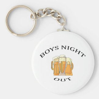 Boys Night Out Basic Round Button Key Ring