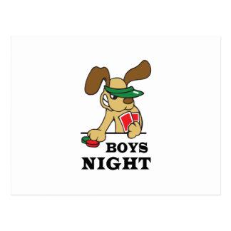 BOYS NIGHT POSTCARD