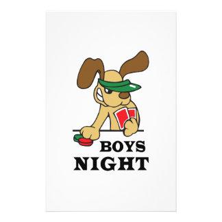 BOYS NIGHT CUSTOM STATIONERY