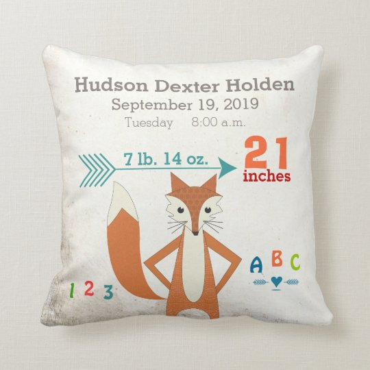 Boy's Nursery Room Baby Stat Fox Arrow Pattern