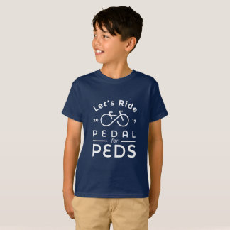 Boys Official 2017 Pedal For Peds T-Shirt