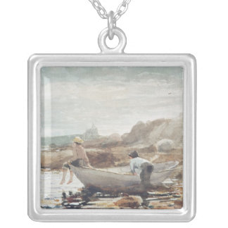 Boys on the Beach Silver Plated Necklace
