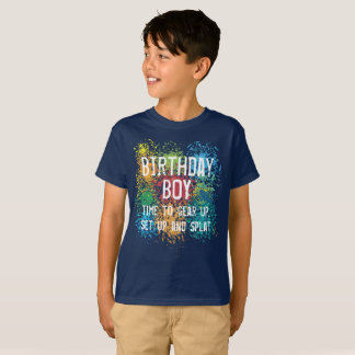 Boy's Paintball Tactical Birthday Party T-Shirt