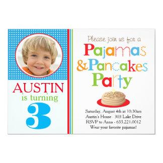 Boy's Pancakes & Pajamas Party Invitation (Photo)