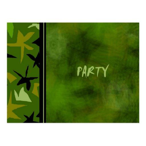 Boys Party Invitation Postcards