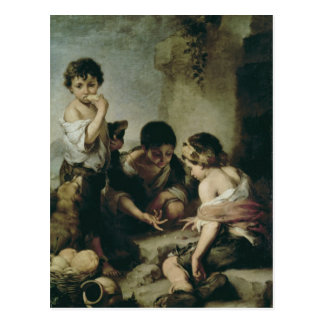 Boys Playing Dice, c.1670-75 Postcard
