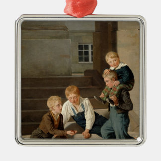 Boys Playing Dice in Front of Christiansborg Christmas Ornament