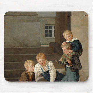 Boys Playing Dice in Front of Christiansborg Mouse Mat