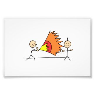 Boys Playing Fighting Effects Fun Games Photo Print