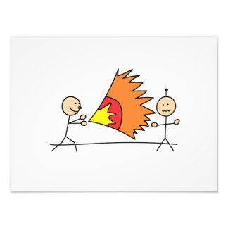 Boys Playing Fighting Effects Fun Games Photographic Print