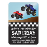 Boys Racing Monster Trucks Personalized Birthday 13 Cm X 18 Cm Invitation Card