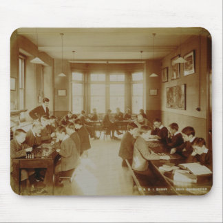 Boy's Recreation Room at the Deaf and Dumb Institu Mouse Pads