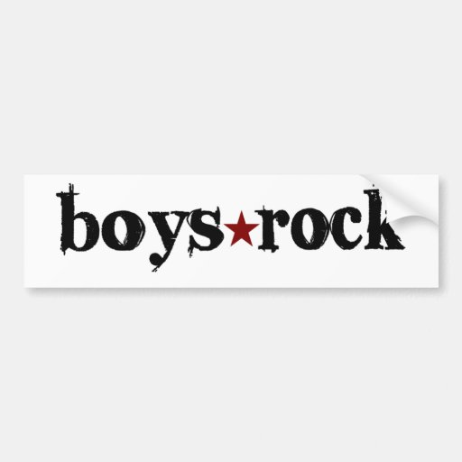 Boys Rock Bumper Stickers