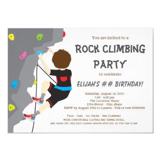 Boys Rock Climbing Birthday Party 11 Cm X 16 Cm Invitation Card