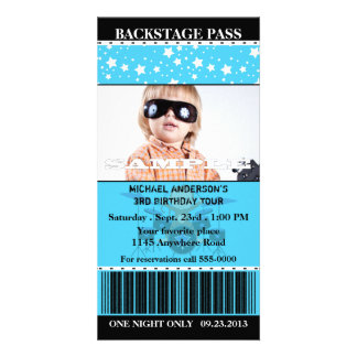 Boys Rock Star Photo Birthday Photo Greeting Card