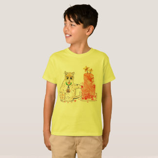 Boys Roland the cat tee
