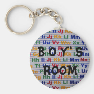 Boys Room Bathroon Keychain
