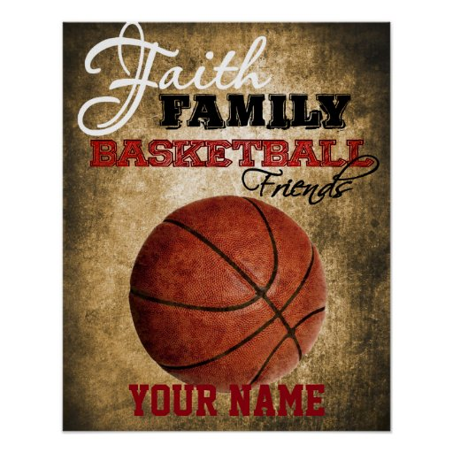 Boys Room Decor Basketball Personalised