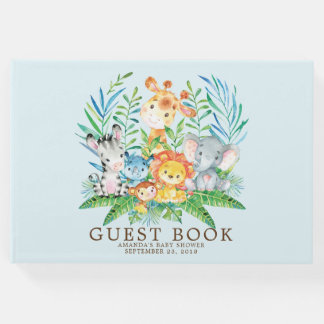 Boys Safari Jungle Baby Shower Guest Book