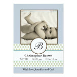 Boys Sage Dots Birth Announcement
