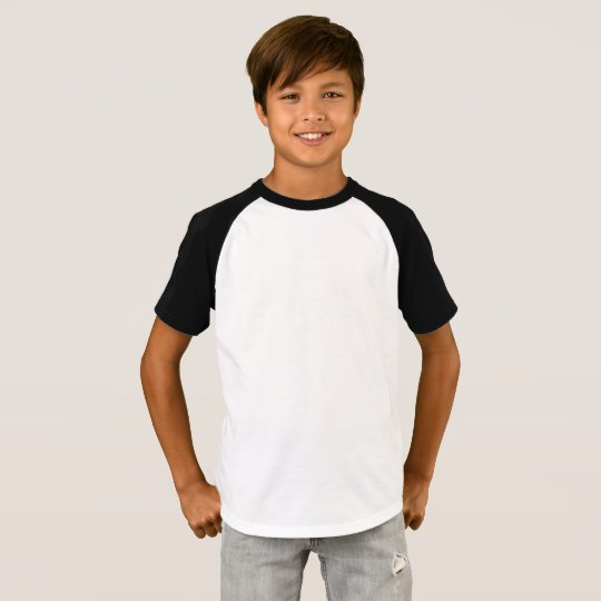 Raglan T-Shirt, White/Black