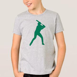 Boys simple green baseball player tee