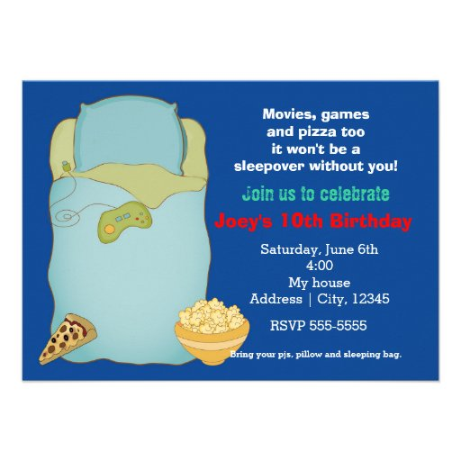 Free Slumber Party Invitations with best invitation layout