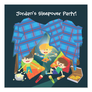 Boy's Sleepover Slumber Party Invitation