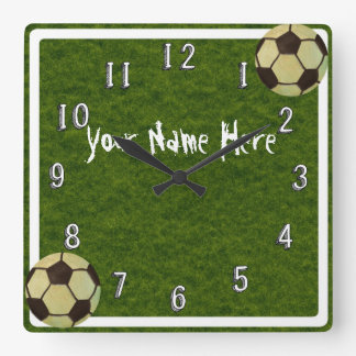 Boys Soccer Ball Decor Wall Clock Personalised