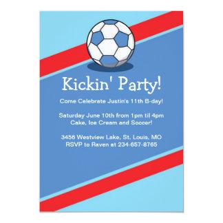 Boys Soccer Themed Birthday Party Invites