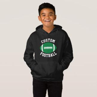 Boy's Sports Team Name/Text Green Football Player