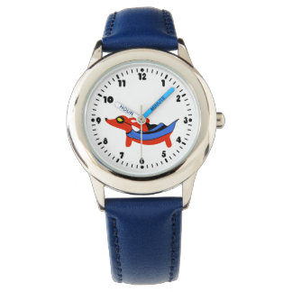 Boys Super-duper Dachshund Superhero Watch