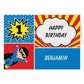superhero birthday cards  invitations  zazzle.co.uk, Birthday card