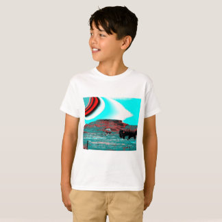 Boys T-shirt with colorful buffalo print
