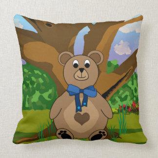 Boys Teddy Bear Throw Cushions