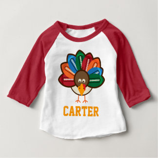 Boys Thanksgiving Football Turkey Shirt